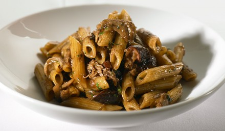 Penne Pasta with Duck Confit