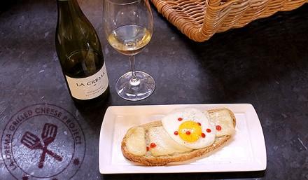 The La Crema Grilled Cheese Project: Open Faced Breakfast Brioche