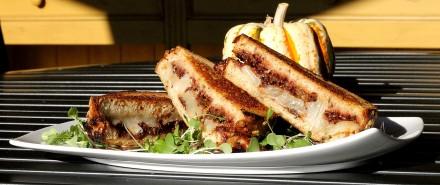 Fiscalini Cheddar & Grape Chutney Grilled Cheese Sandwich