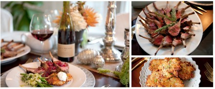 Holiday Menu: Rack of Lamb, Potato Pancakes, Butter Lettuce Salad