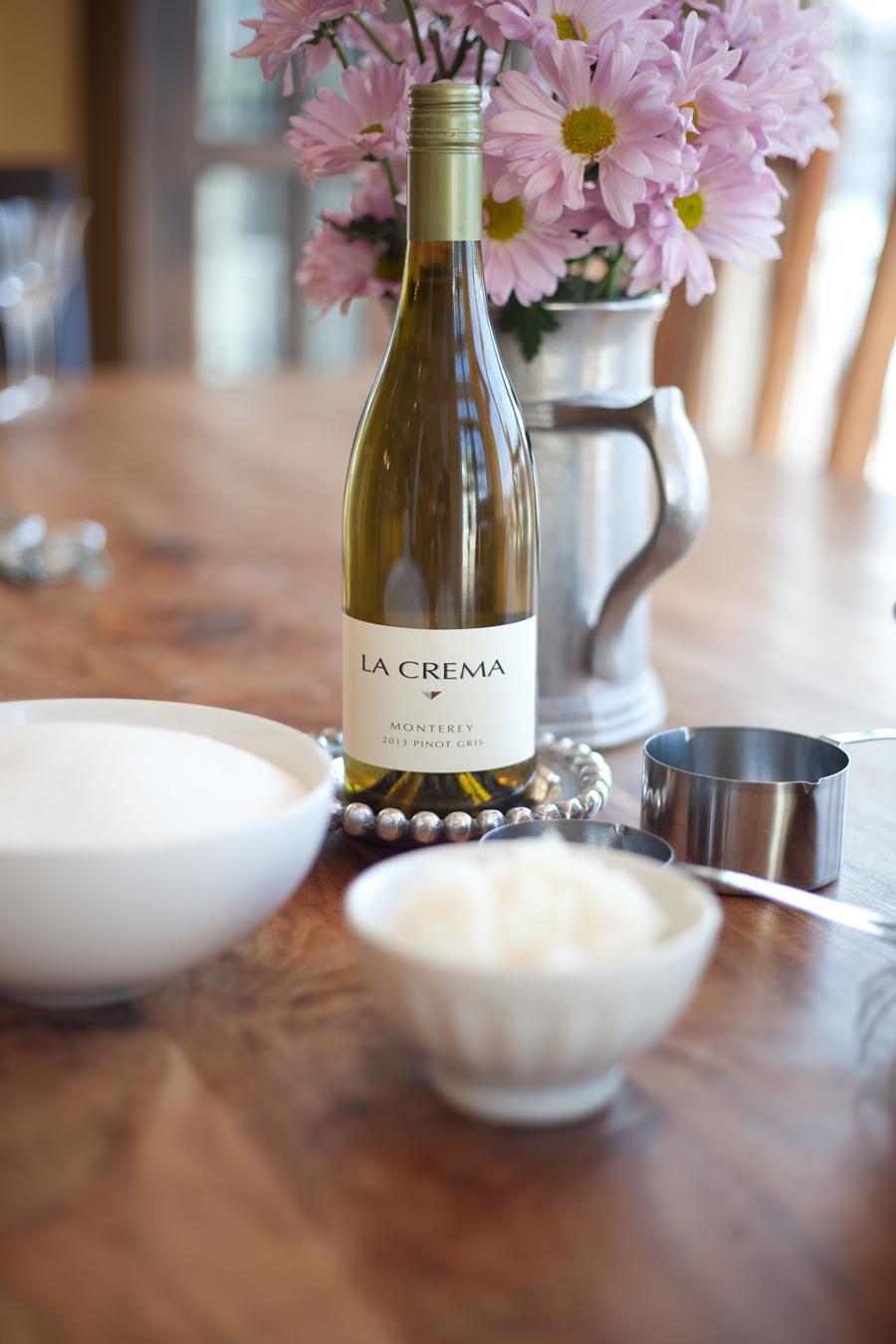 Essential ingredients. (Note: Wine makes DIYs more fun)
