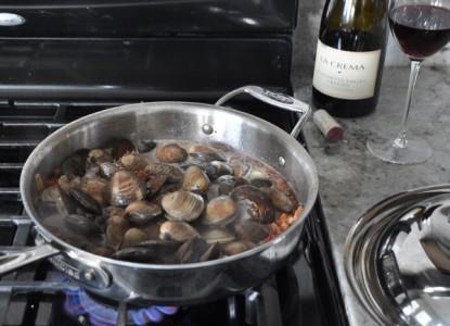 Clams, Chorizo & Pinot Noir