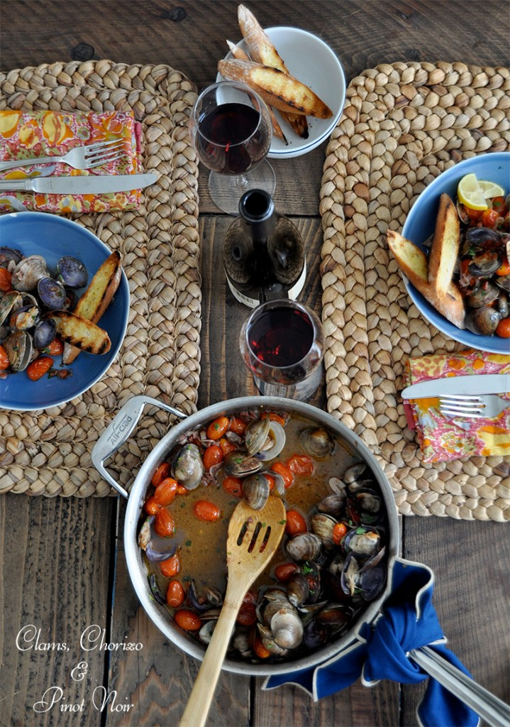 This brothy, Spanish tapas-style dish is a delicious combination, especially when paired with our bright, floral Willamette Pinot Noir.