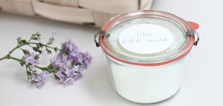 DIY Lilac Bath Milk