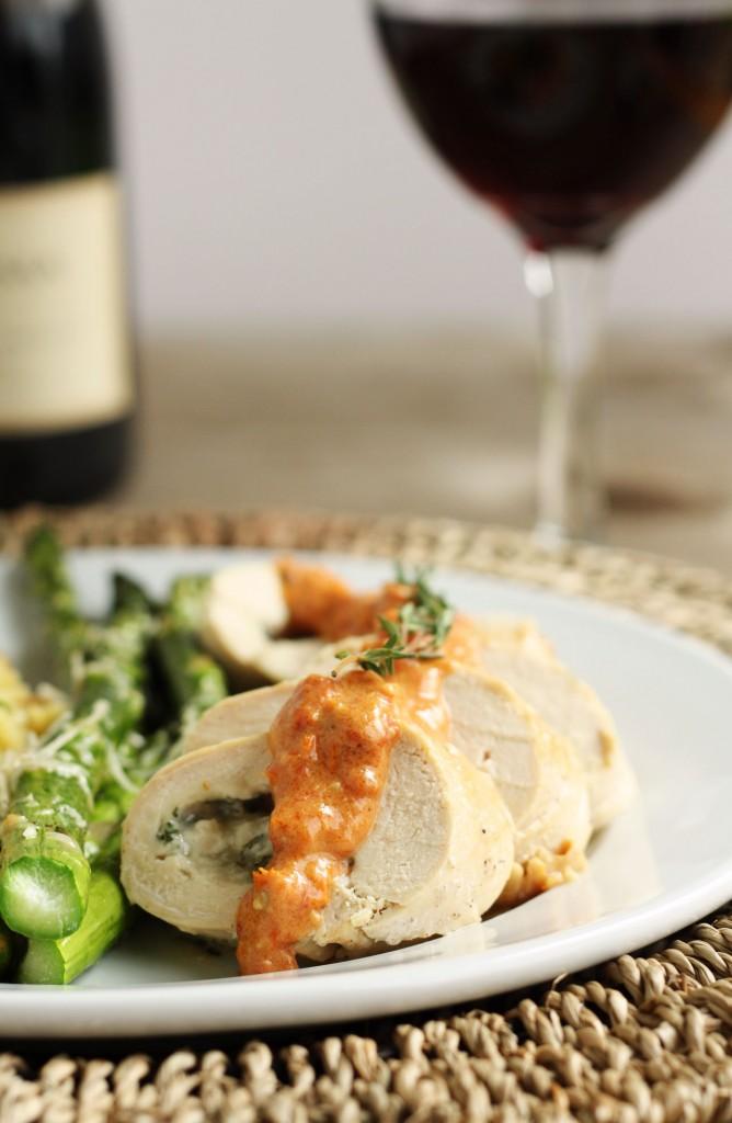 Herb & Cheese-Stuffed Chicken with Sun-Dried Tomato Cream Sauce
