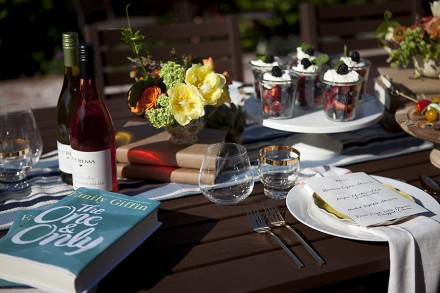 A book club-inspired spring party