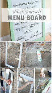 DIY Party Details: Window Menu Board