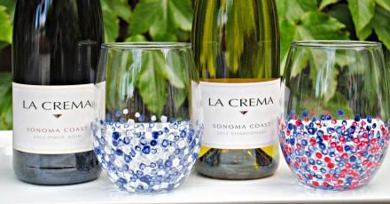 Summer Confetti Wine Glasses