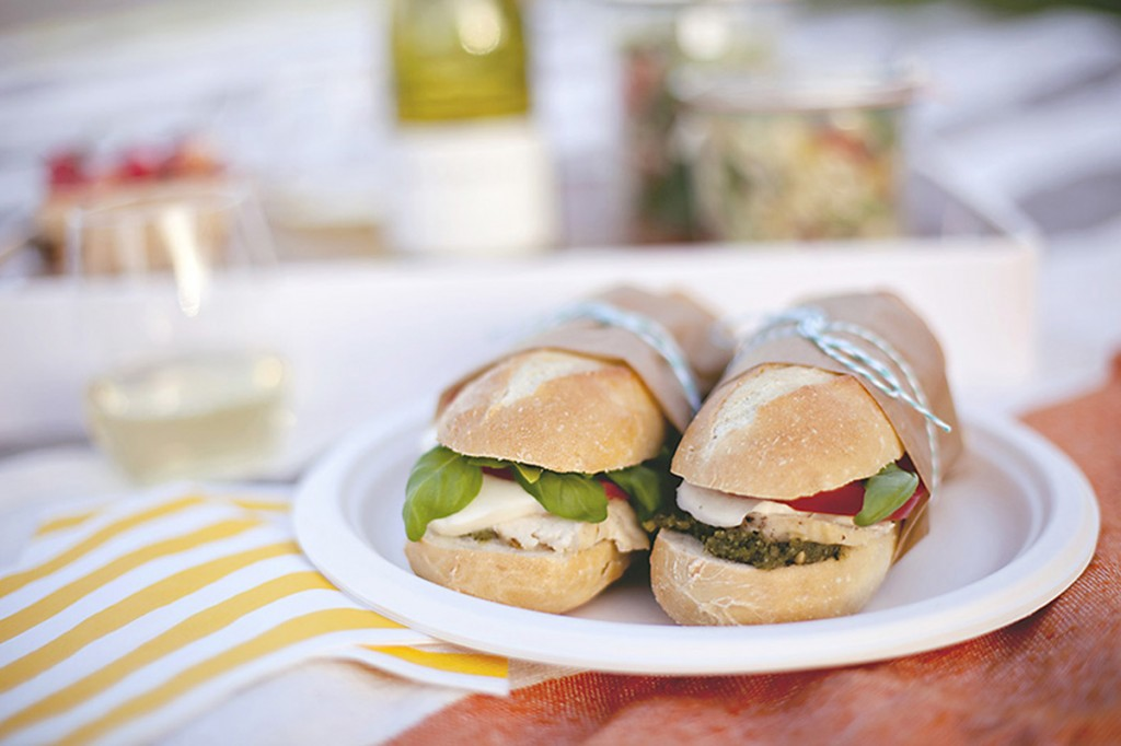 Caprese Chicken Baguettes Light, bright, clean flavors tucked inside a fresh baked baguette roll. This terrific combination of flavors and textures is simply amazing.