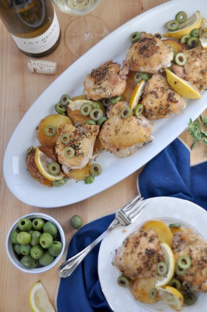 Chicken Thighs With Potato Lemon Castelvetrano Olives