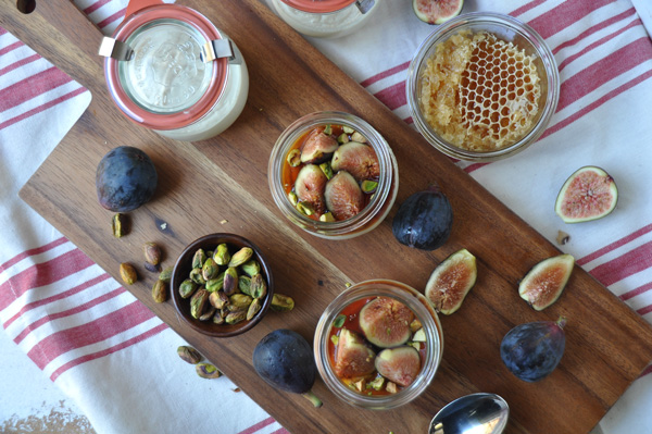 This recipe is easy and delicious and is perfect for a late summer party or dinner al fresco. Best part is, there is no need to turn on an oven for this recipe. The figs and the mascarpone cheese do all the work for you. Enjoy!