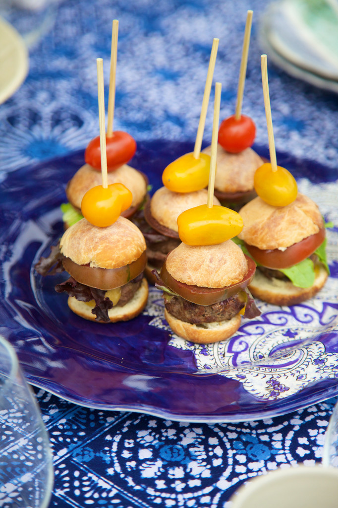 Informal, tasty and fun to dress up! These sliders are a hit for end-of-summer small bites and proof good things come in small packages.