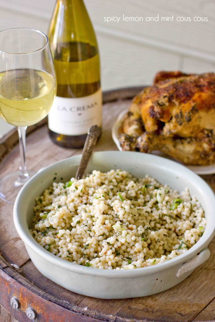 spicy lemon and mint cous cous- this is an incredibly easy quick and delicious dish!