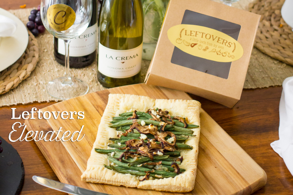 Elevate your leftovers with this green bean and mushroom tart and some fun free printables