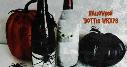 DIY Halloween Wine Bottle Centerpieces (Video)