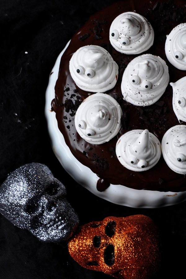 Candy is nice, but a cream cheese and ganache-frosted chocolate cake with homemade marshmallows is wickedly delicious.