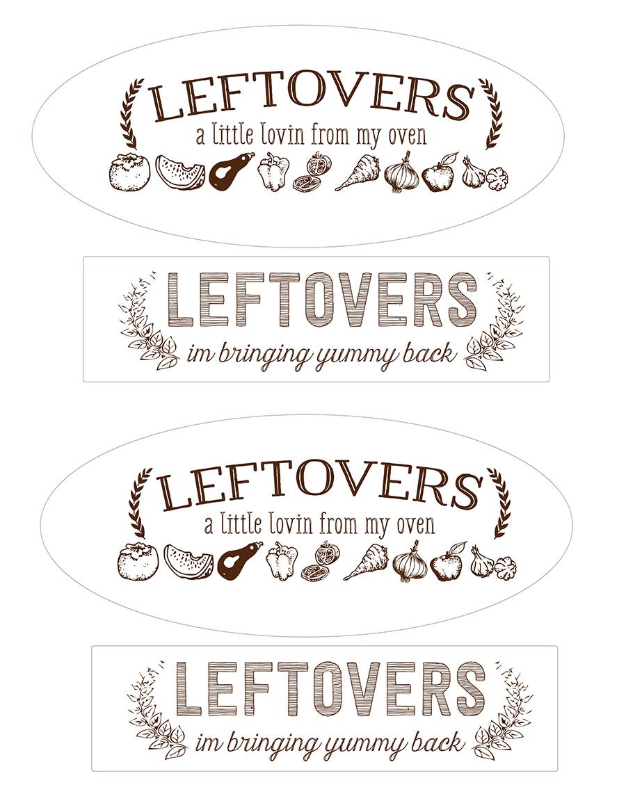 Leftover Printable Tags