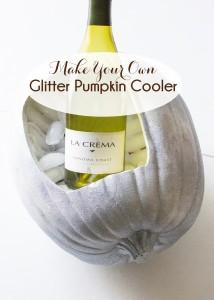 DIY Halloween Pumpkin Wine Cooler