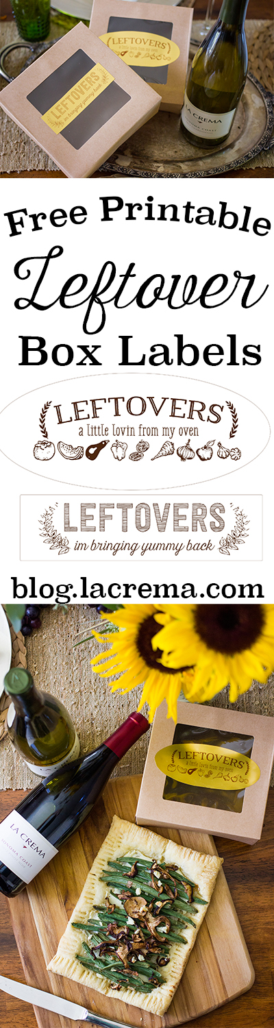 These beautiful leftover box labels are a great way to send home leftovers for your guests in style!