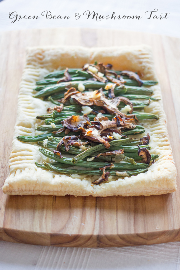 This delicious green bean and mushroom tart is made from leftovers- and is amazingly delicious!