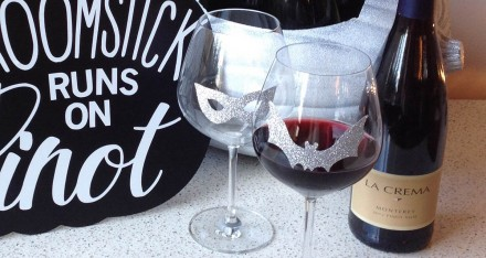 DIY Halloween Adhesive Wine Charms