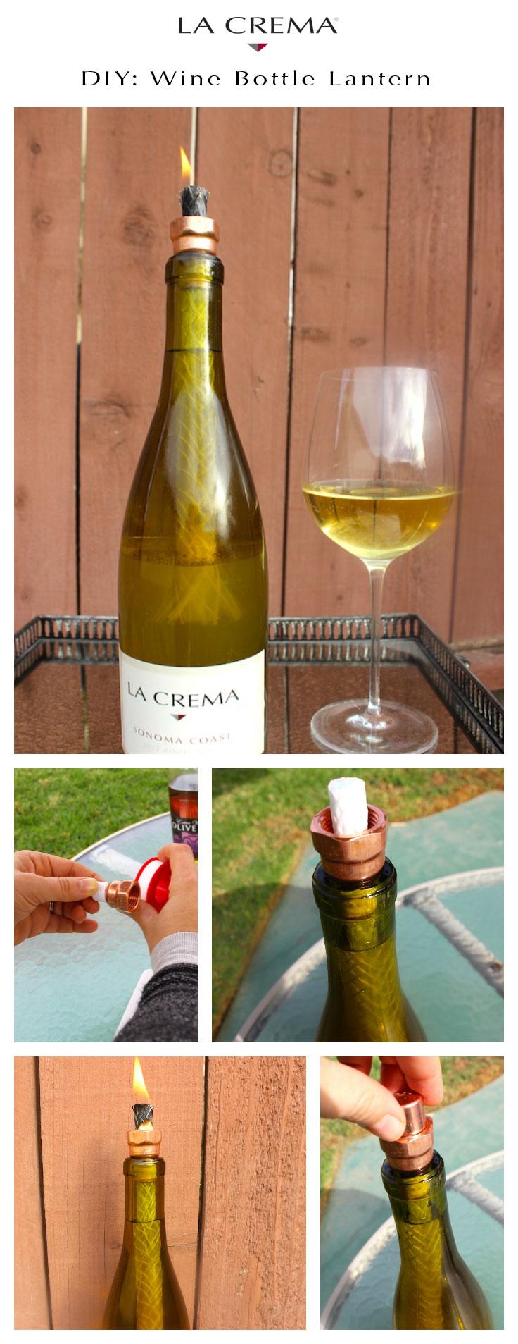 DIY Wine Lantern