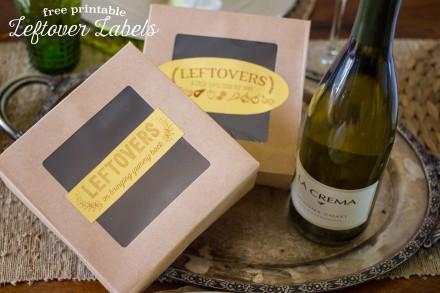 Thanksgiving Leftover Box Labels