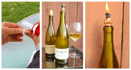 Wine Bottle Lantern DIY