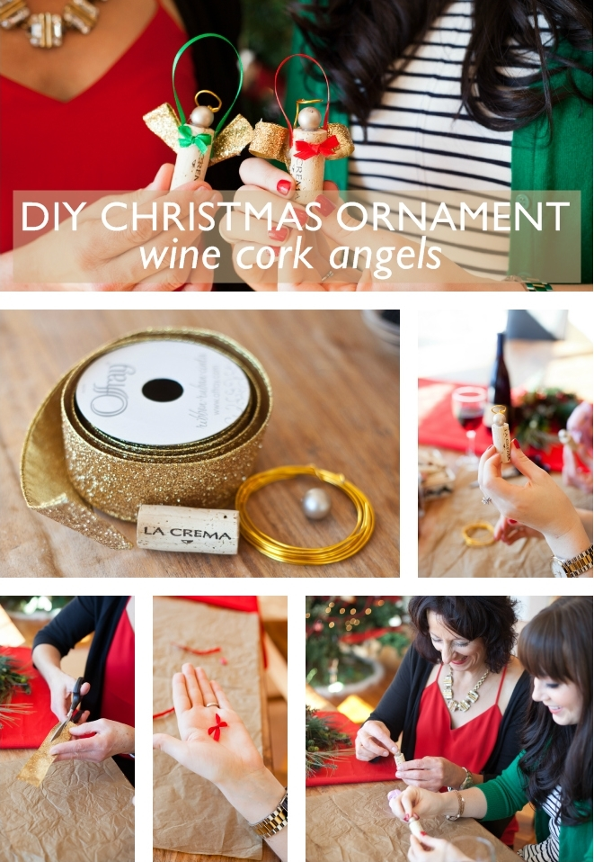 DIY Cork Angels. Our favorite DIYs are always ones that you can do with a glass of wine. So, pour yourself a glass of Pinot Noir (save that cork!) and plug in your hot glue gun.