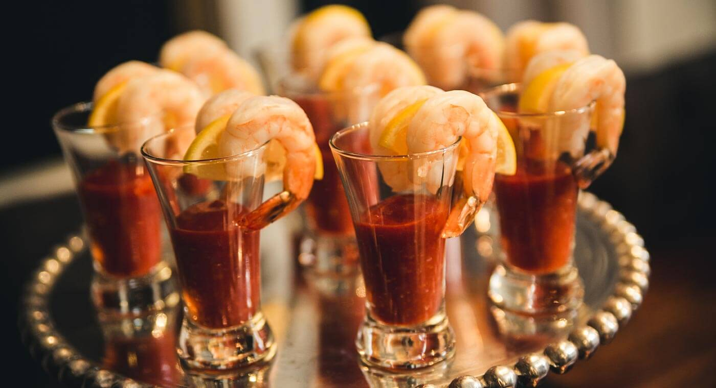 Feast Of The Seven Fishes Shrimp Cocktail Shooters