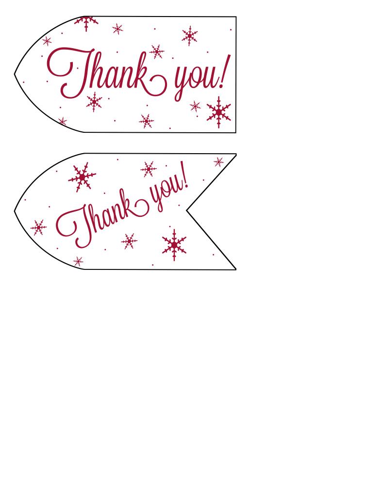 Printable hostess gift tags
