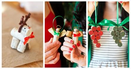 Triple DIY: Wine Cork Christmas Ornaments