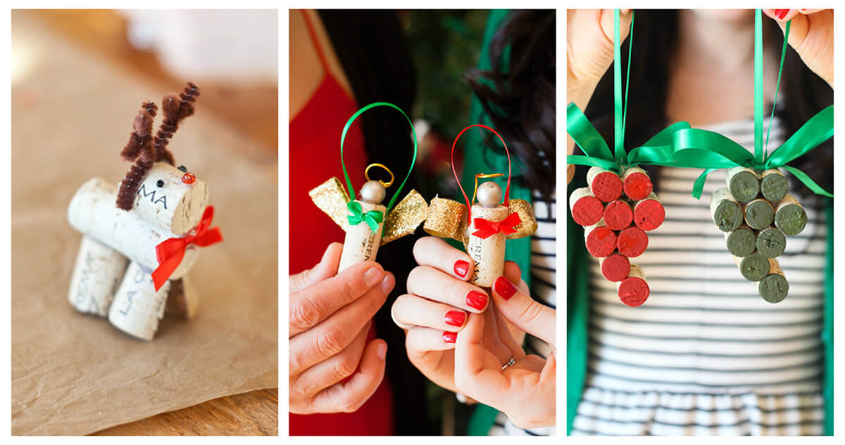 Wine Christmas Tree Ornaments