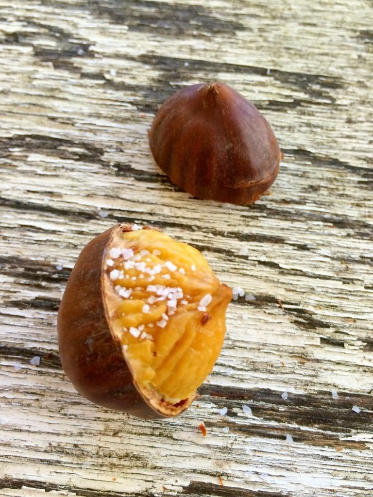 Chestnut with sea salt.