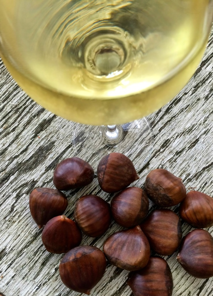 Roasted chestnuts and Chardonnay
