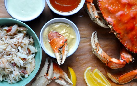 Fresh Dungeness Crab with Three Dipping Sauces