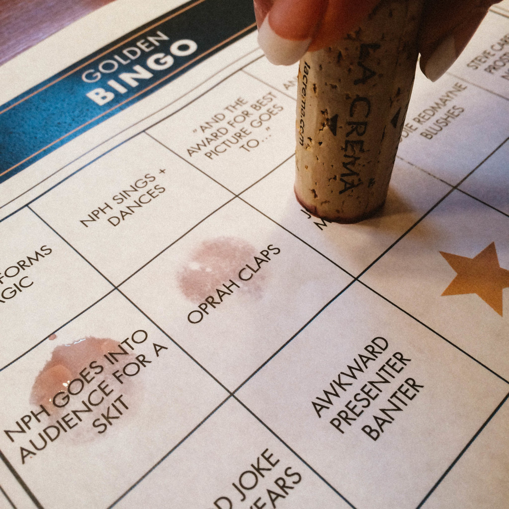 Using a cork to mark a bingo game