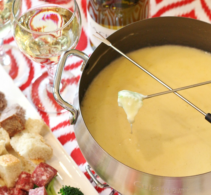 Cheese Fondue For Two - Valentines Menu