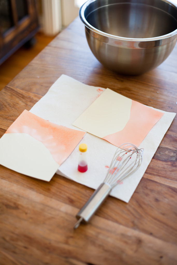 Create luxe dip dyed valentines
