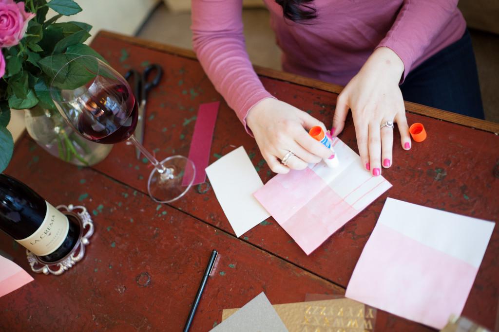 DIY: Dip-Dyed Valentines