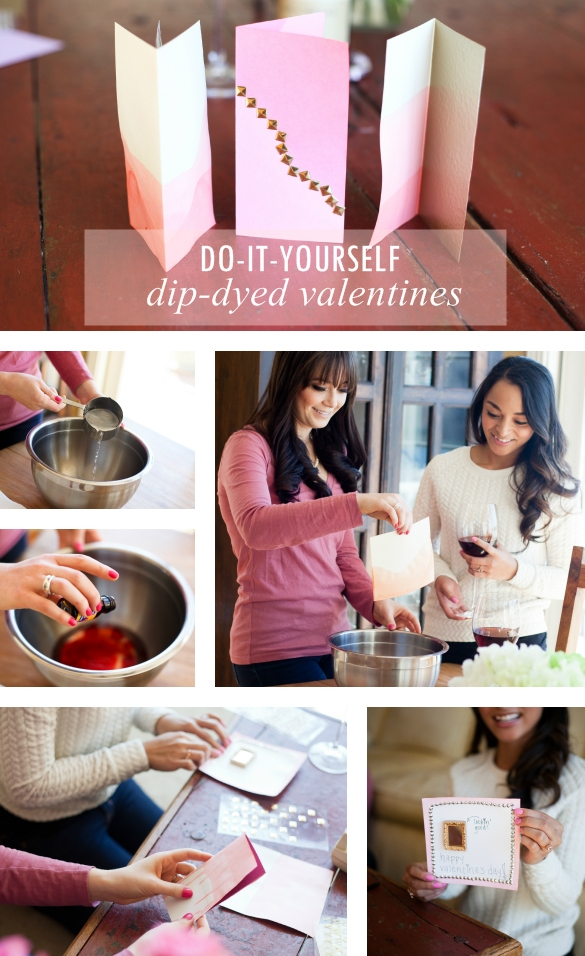 DIY: Dip-Dyed Valentines craft project