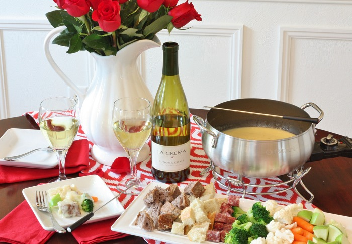 Valentines Cheese Fondue for Two