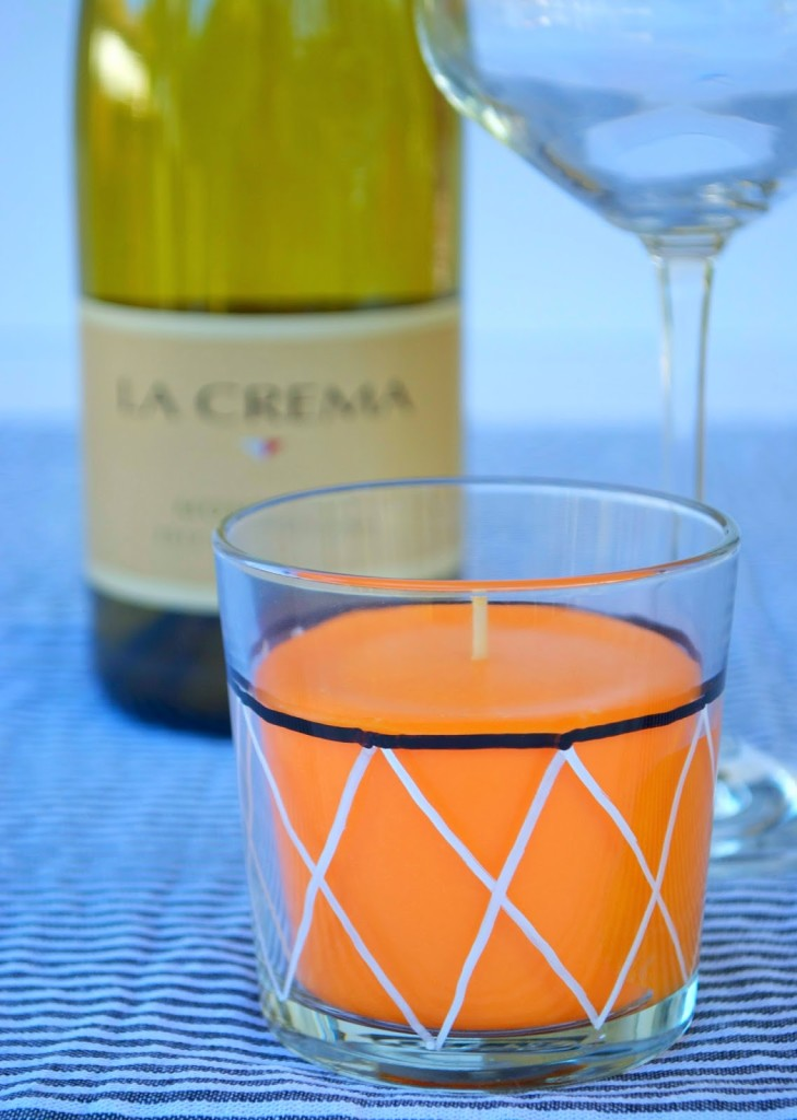 Basketball candle and La Crema Wine