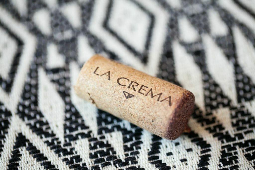 La Crema wine cork.
