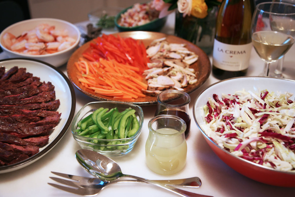 Effortless Weekend Brunch with a Thai-Take on Cabbage Slaw and Chopped Chicken Salad