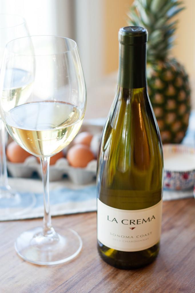 Pineapple Coconut Crème Brûlée: La Crema's Sonoma Coast Chardonnay is the obvious pairing choice.