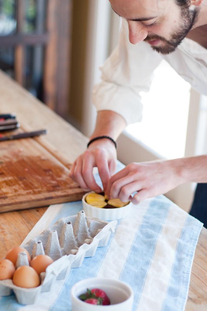 Assembling the Pineapple Coconut Crème Brûlée