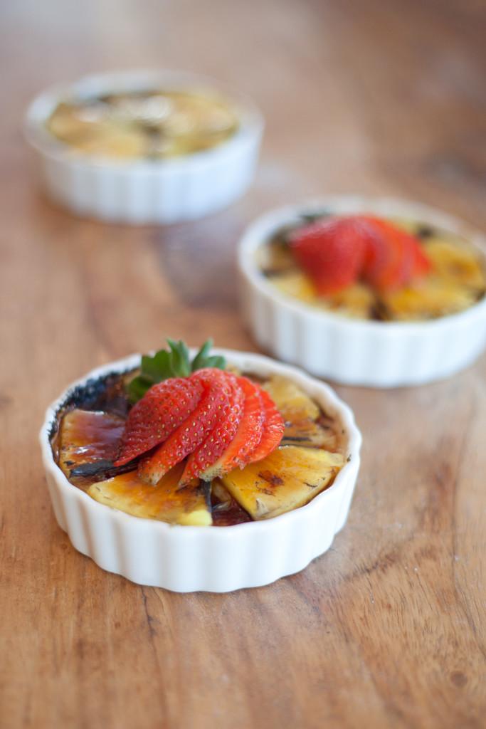 Pineapple Coconut Crème Brûlée get the recipe on our blog!