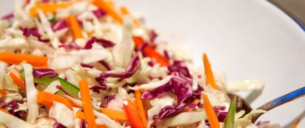 Cabbage Slaw and Chicken Salad with a Thai Twist