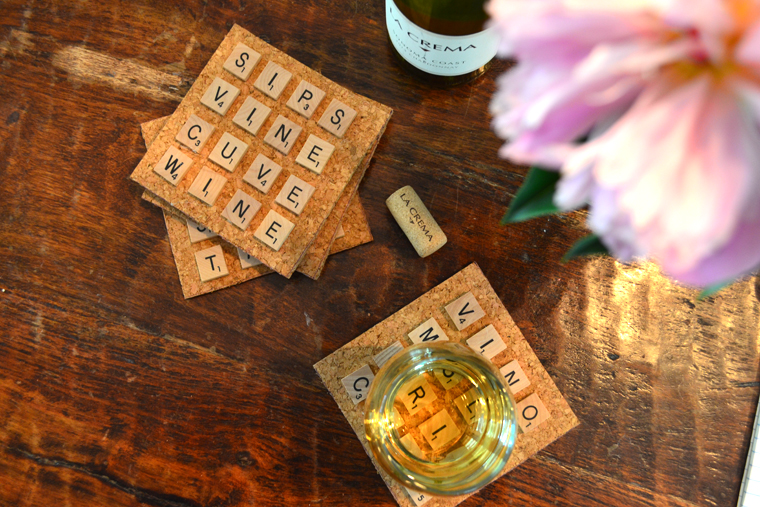 DIY Wine Coasters